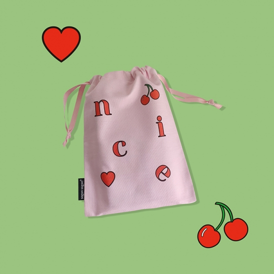 nice cherry string pouch m