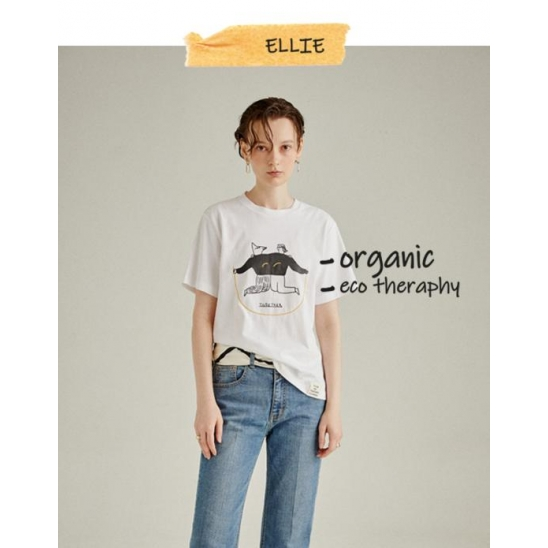 [kimsujin x a.t.corner] ORGANIC TOGETHER T-SHIRT WHITE