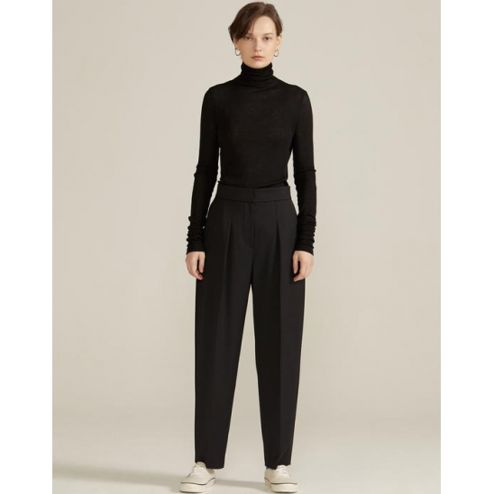 High-rise Tailored Trousers [BLACK]