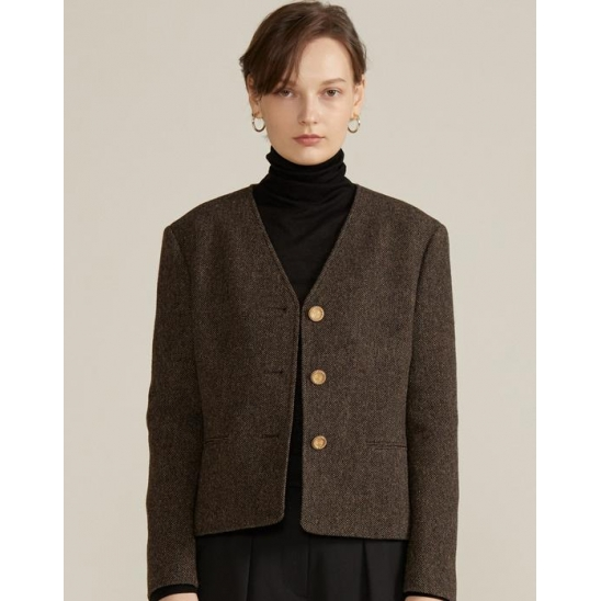 CLASSY JACKET [BROWN]