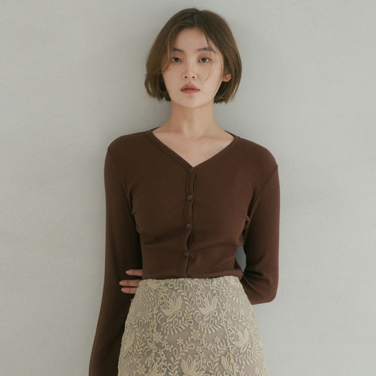 NOS KNIT CARDIGAN COCOA BROWN