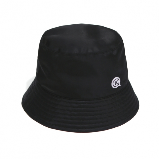 BUBBLE LOGO BUCKET HAT BLACK