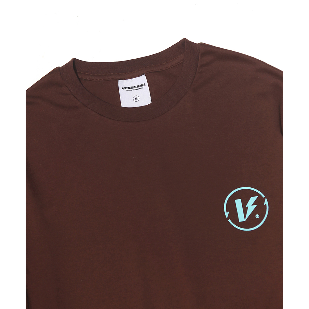 BASIC LOGO LONG SLEEVE T-SHIRTS MOCHA