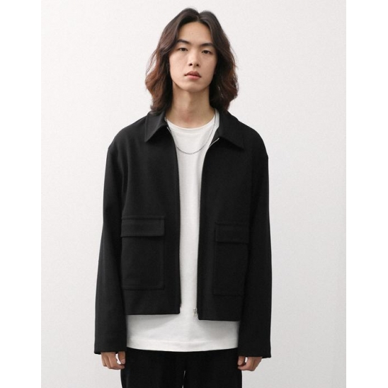 TWO POCKET BLOUSON BLACK
