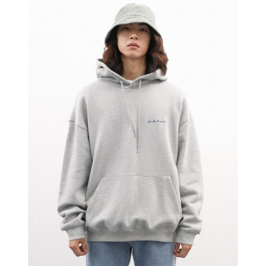 SMALL LETTERING HOODIE GRAY