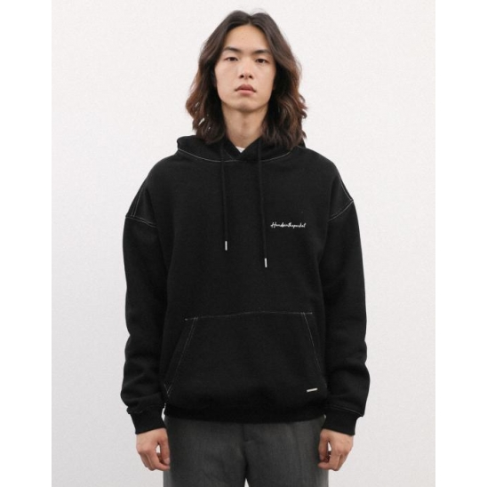 SMALL LETTERING HOODIE BLACK