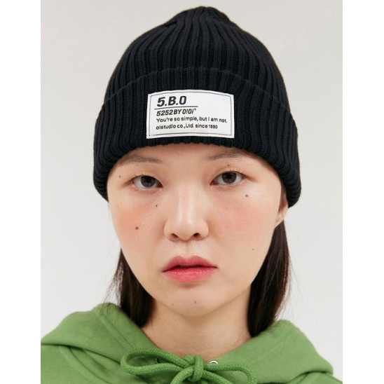 TAG LABEL BEANIE_BLACK