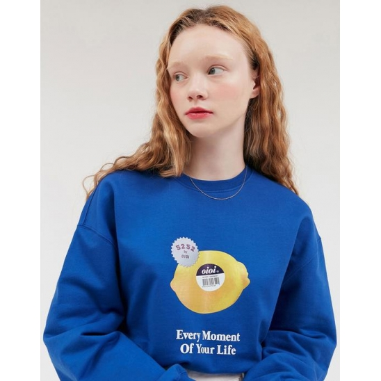 FRESH LEMON LONG SLEEVE T-SHIRTS_BLUE