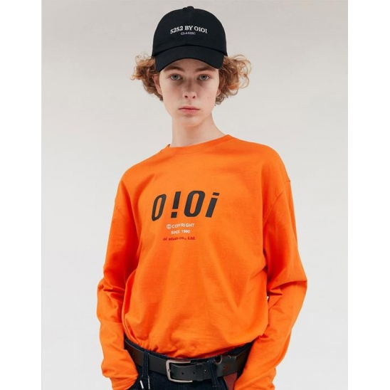 SIGNATURE LOGO LONG SLEEVE T-SHIRTS_ORANGE