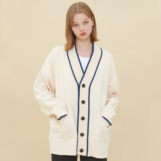 COLORATION KNIT CARDIGAN_IVORY
