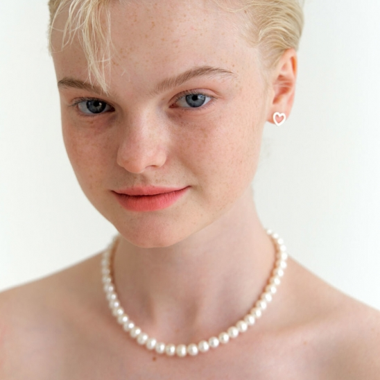 classy pearl necklace (Silver 925)