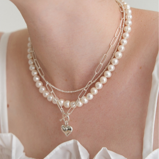in good heart necklace (Silver 925)