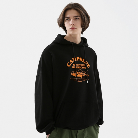 FISHING CLUB SIGN OVERFIT HOODIE CHT205 / 3color M