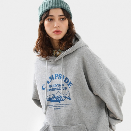 FISHING CLUB SIGN OVERFIT HOODIE CHT205 / 3color