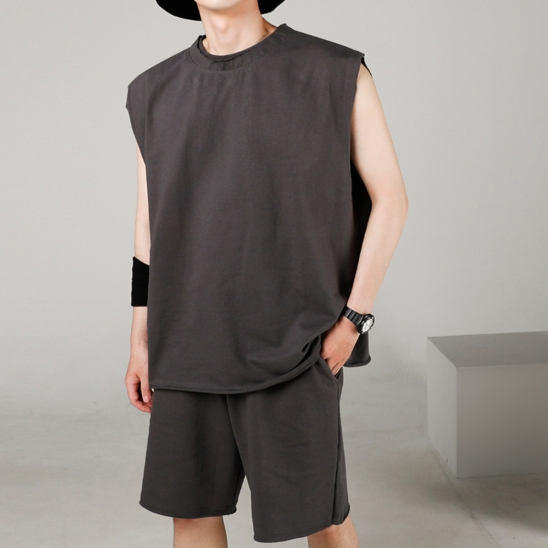 FLEX TRAINING SET SLEEVELESS CHARCOAL