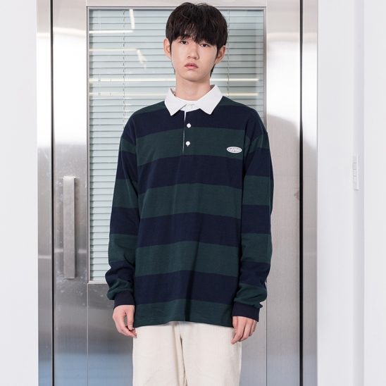 20 CLEAR LABEL BOLD STRIPE L/S TEE(GREEN)