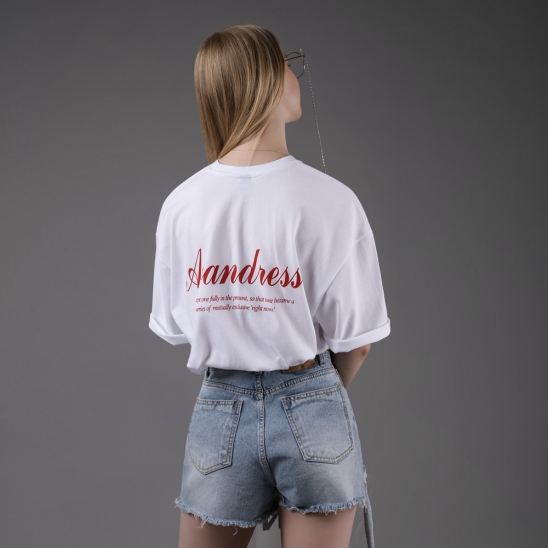 FONT OVER SHORT SLEEVE RED