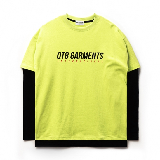 ND I.T Logo Layered Tee (Lime)