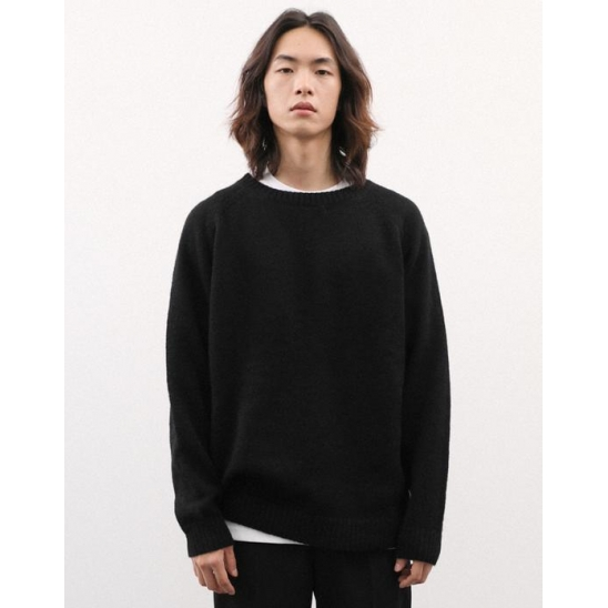SHADDY DOG LIKE KNIT PULLOVER BLACK