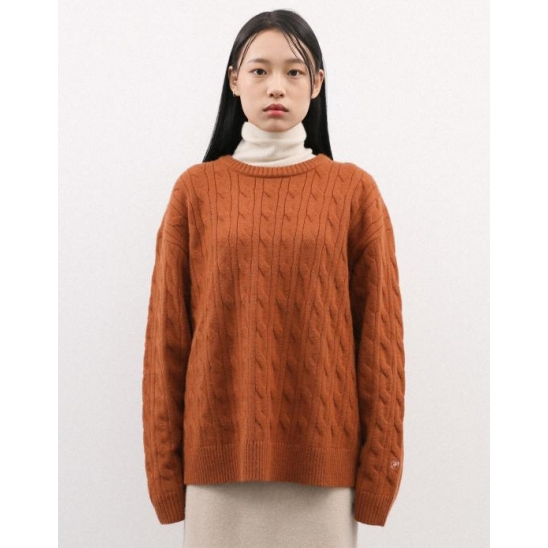 CABLE KNIT PULLOVER CAMEL