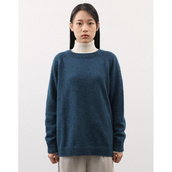 SHADDY DOG LIKE KNIT PULLOVER TEAL