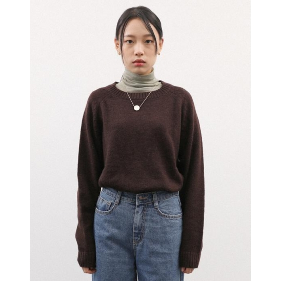 SHADDY DOG LIKE KNIT PULLOVER BROWN