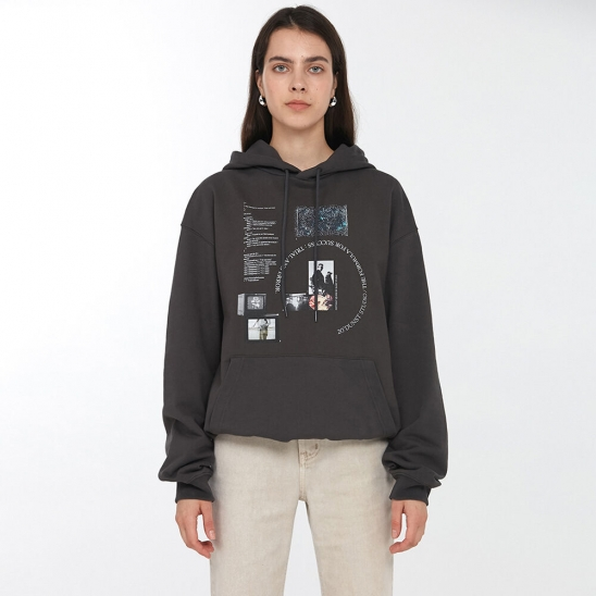UNISEX DIGITAL LAYOUT GRAPHIC HOODIE CHARCOAL GREY_UDTS0F106G3
