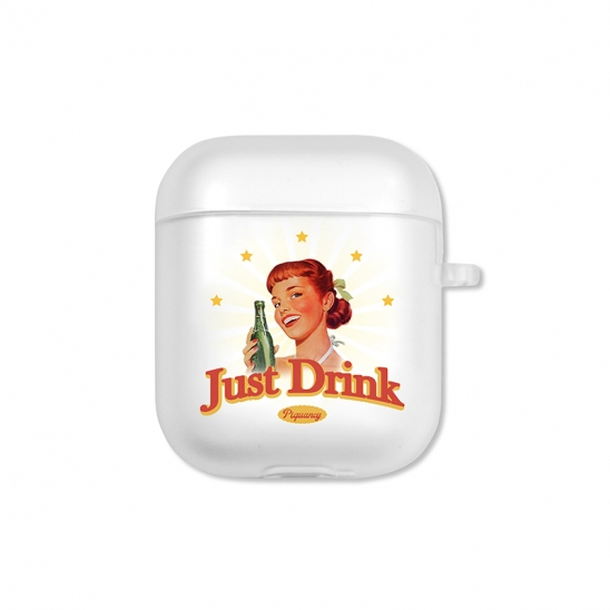 Just Drink Airpods Case(CLEAR)
