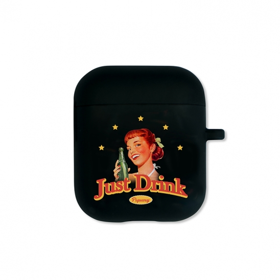 Just Drink Airpods Case(BLACK)