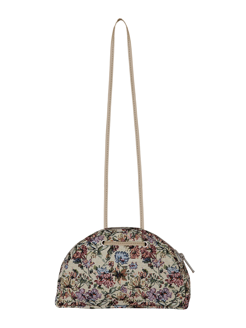 jacquard half moon bag