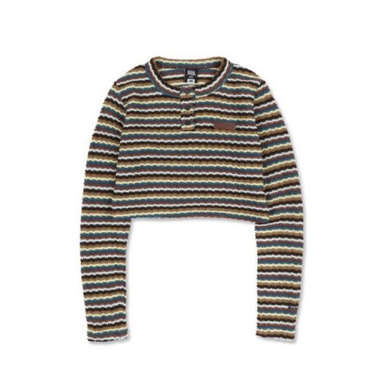 [SSS] Stripe Knit Crop Top [MULTI BLUE]