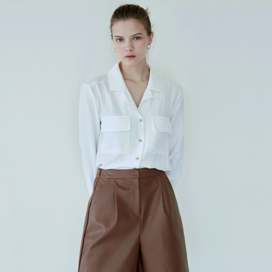 SOFT OPEN SHIRT_IVORY
