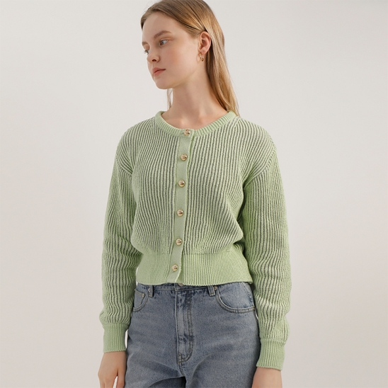 A TWO-TONE KNIT CD_EMERALD