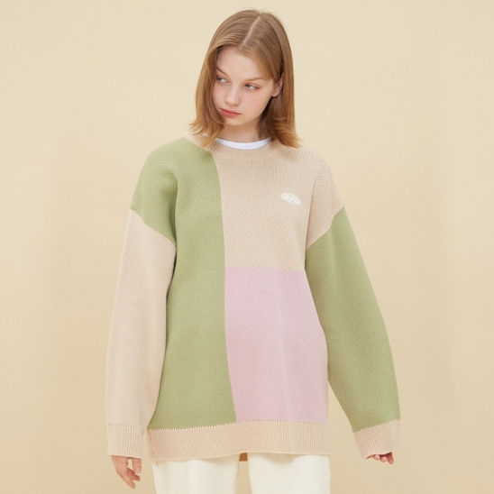 MOSAIC COLORATION SWEATER_BEIGE