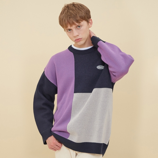 MOSAIC COLORATION SWEATER_PURPLE