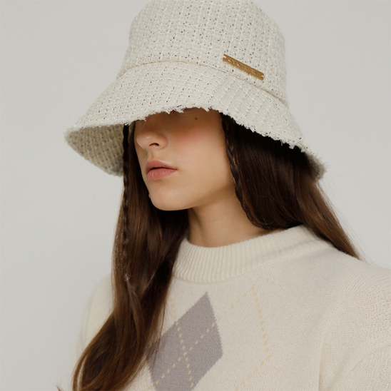 R TWEED BUCKET HAT [2colors]