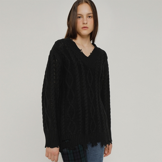 R DAMAGE KNIT TOP