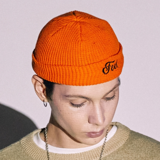 LOGO BEANIE / ORANGE