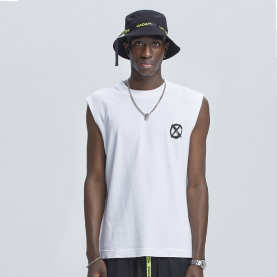 SENSUS L.S.Y. SLEEVELESS T-SHIRTS [WHITE]