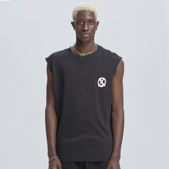 SENSUS L.S.Y. SLEEVELESS T-SHIRTS [BLACK]