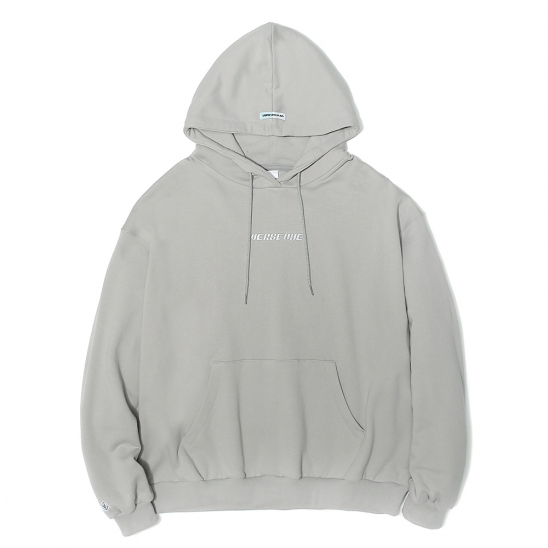 OVERSIZED BASIC LOGO HOODIE LIGHT GREY