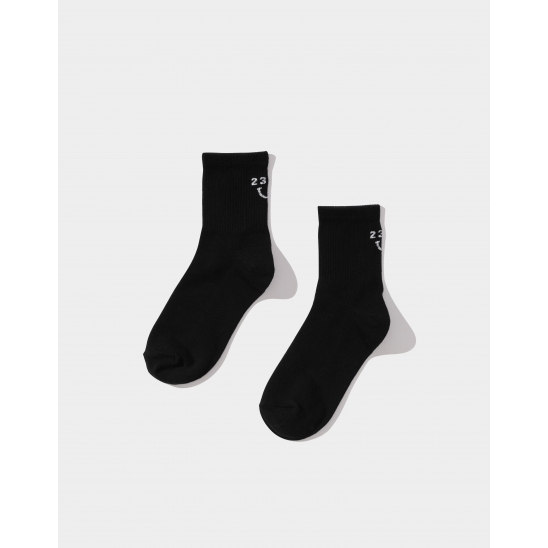 23.65 SMILE SOCKS BLACK
