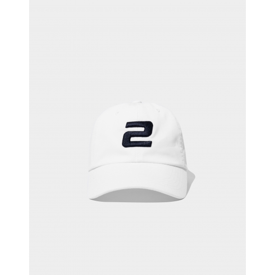 23.65 2LOGO BALL CAP WHITE