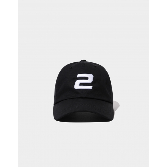 23.65 2LOGO BALL CAP BLACK