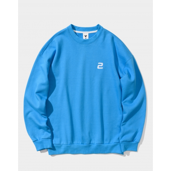 23.65 2LOGO SWEAT SHIRTS BLUE