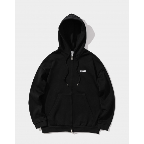 23.65 Standard hoodie zip-up BLACK