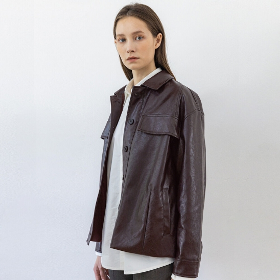 Leather jacket (black berry)