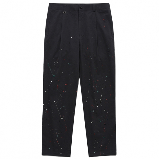 20ELTFW046 PAINTING 2 TUCK WIDE PANTS_CHARCOAL