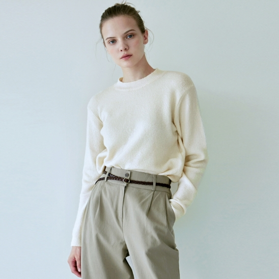NATURAL WIDE NECK KNIT_CREAM