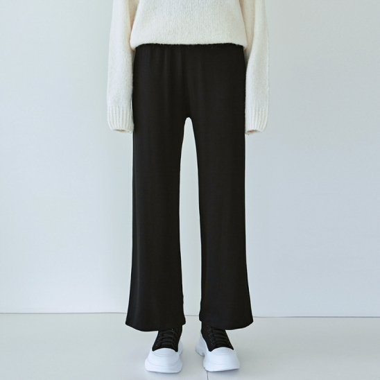 DAILY SOFT WIDE PANTS_BLACK